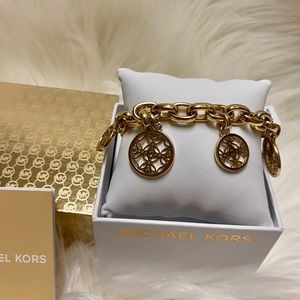 Michael Kors Monogram Gold Tone Bracelet